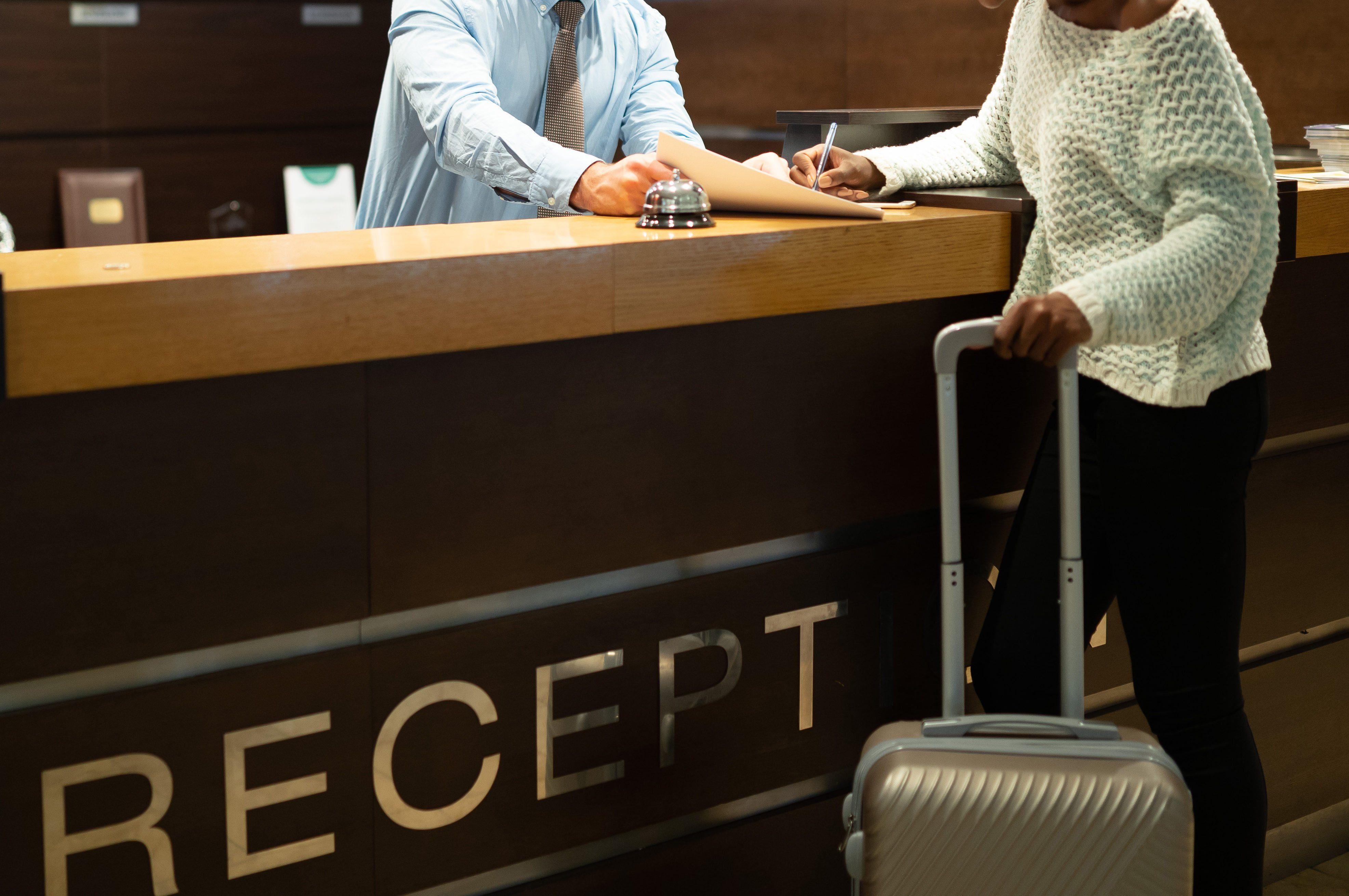 Tourist register in hotel