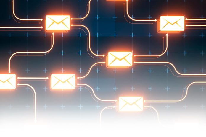 abstract cyber email digital concept