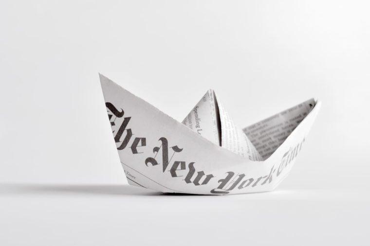 Paper boat.