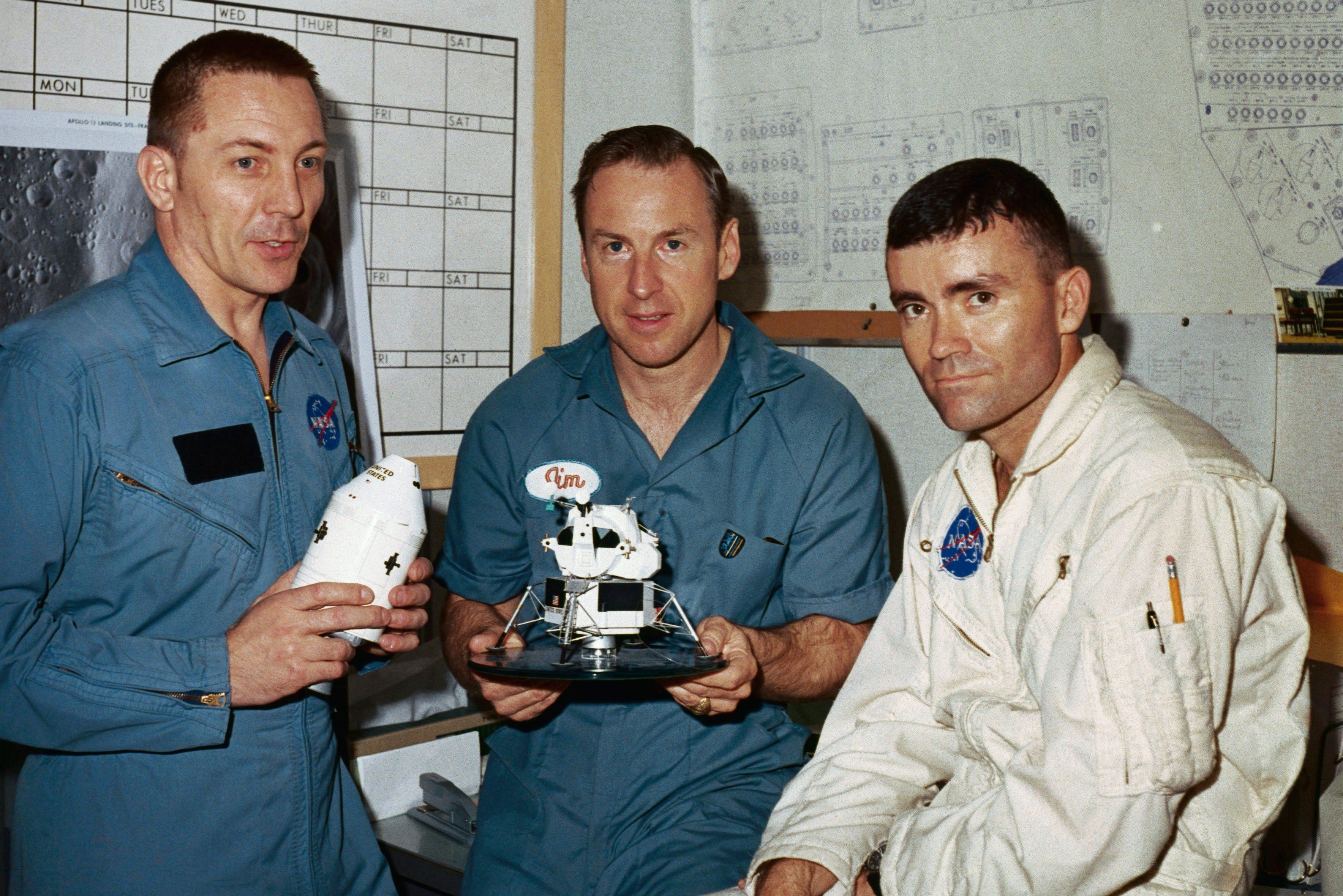 Apollo 13 Astronauts at a Briefing
