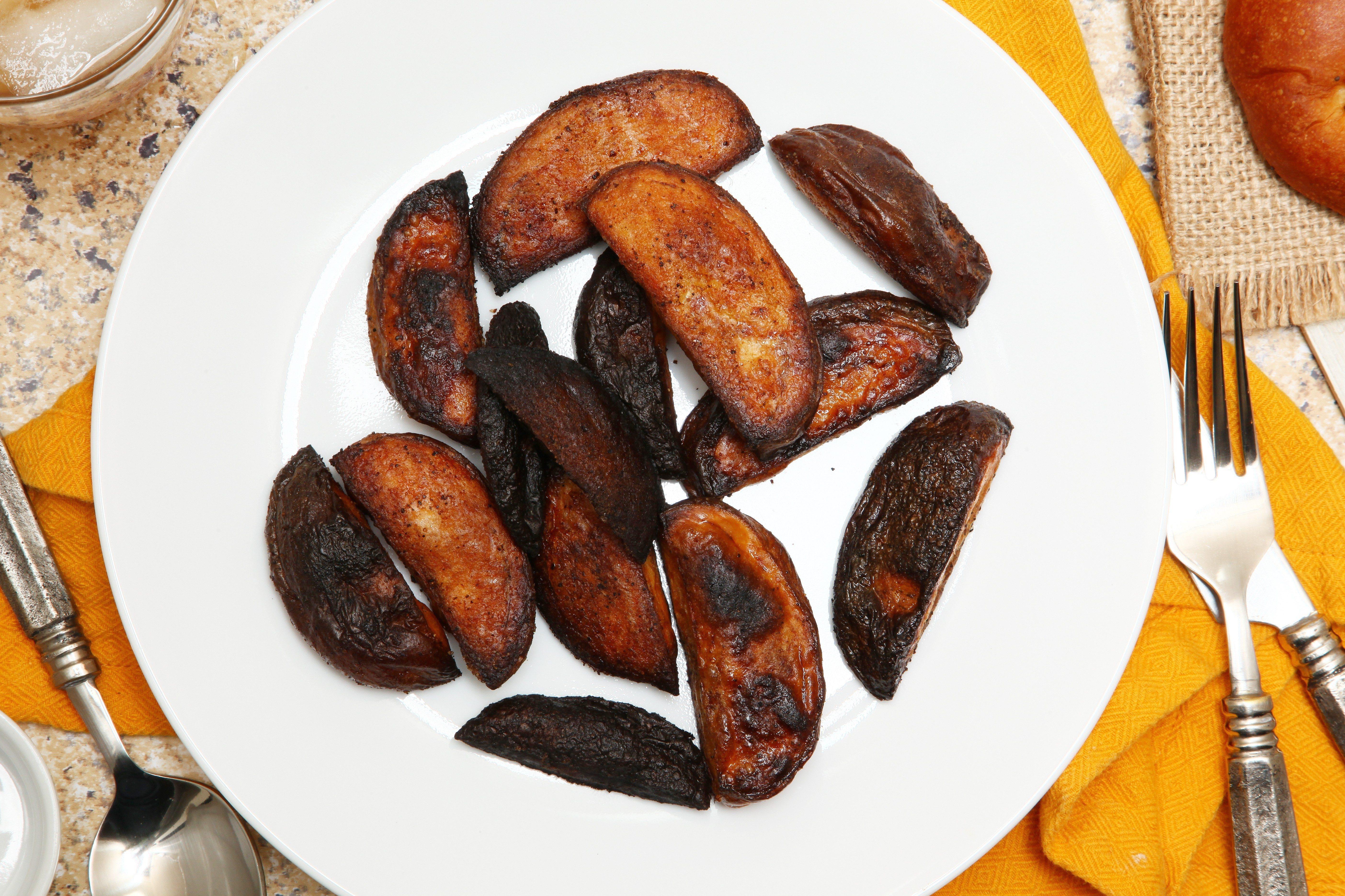Burnt Potato Wedges