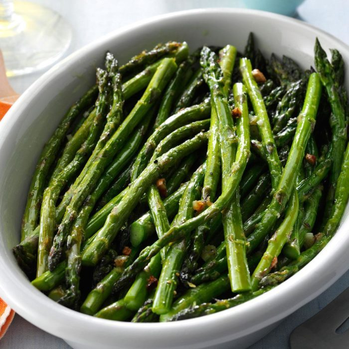 Lemon roasted asparagus recipe
