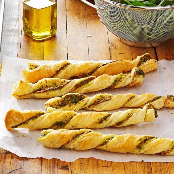 Pesto twists recipe