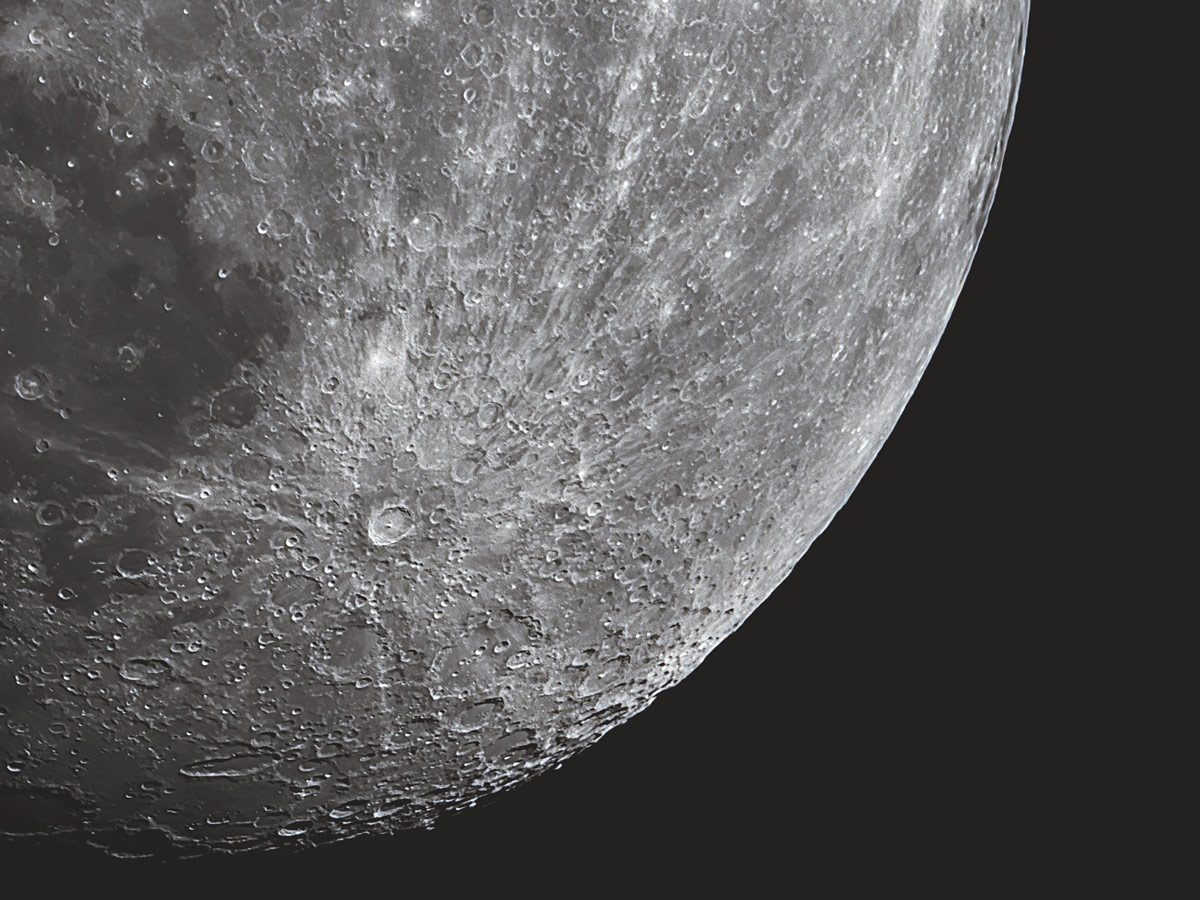 A view of the Tycho Crater (a prominent lunar impact crater)