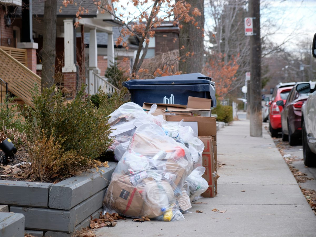 Recycling bin in Toronto