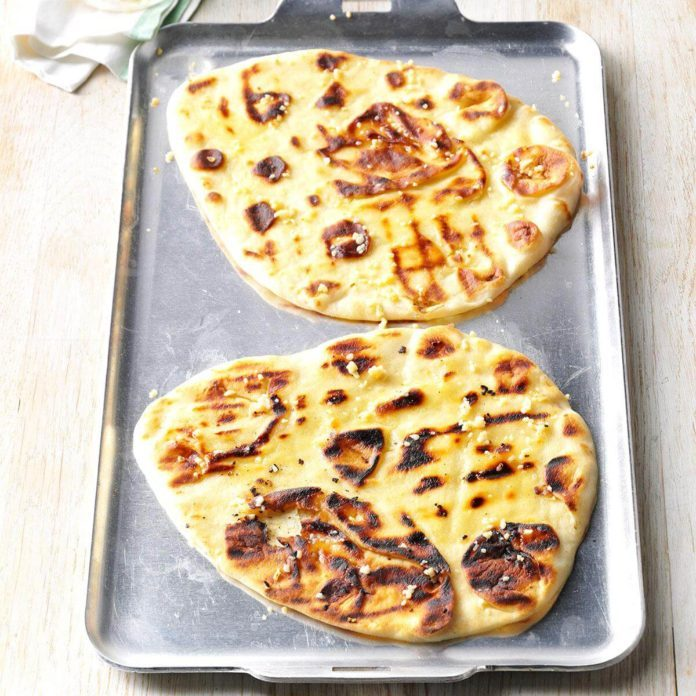 Grilled Garlic Naan