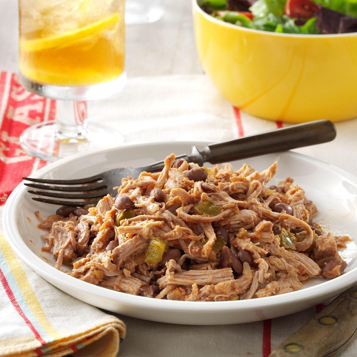 Shredded pork and beans recipe