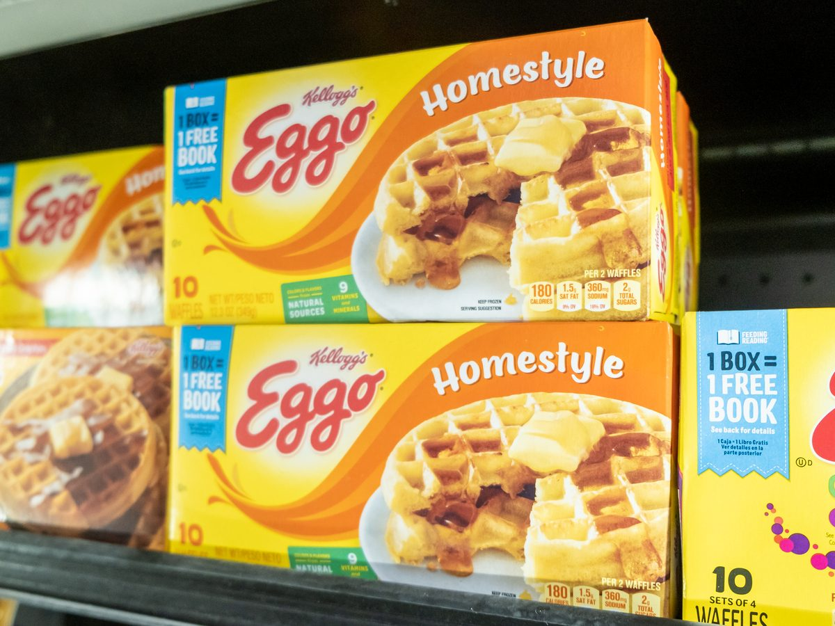 Eggos on supermarket shelf