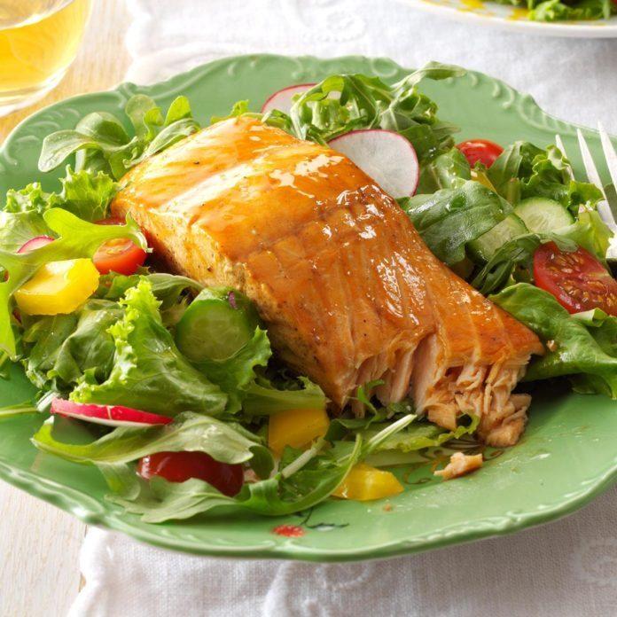 Grilled teriyaki salmon recipe
