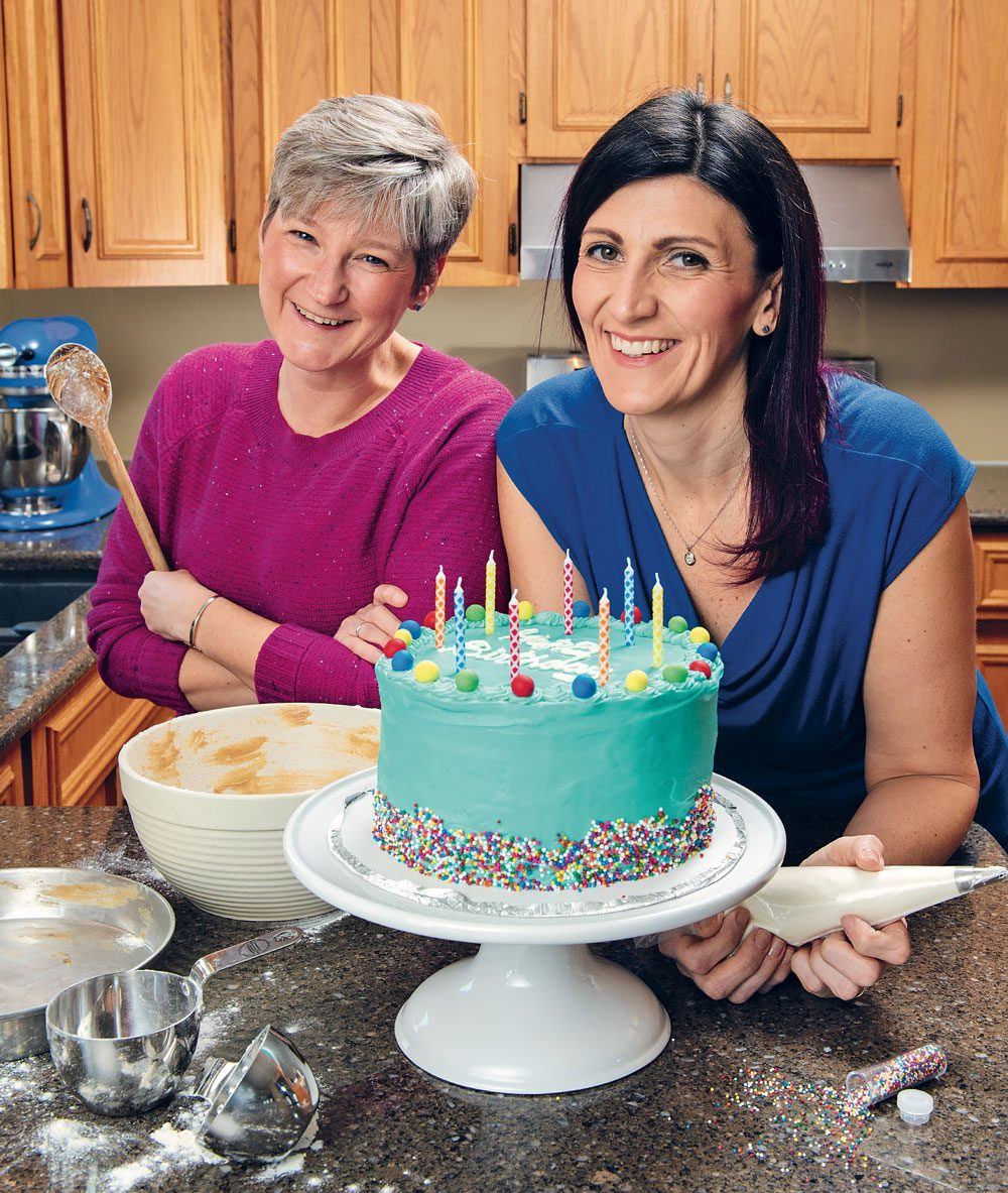 Together, Wendy Singleton (left) and Christy Rogowski run Cakes For Kids