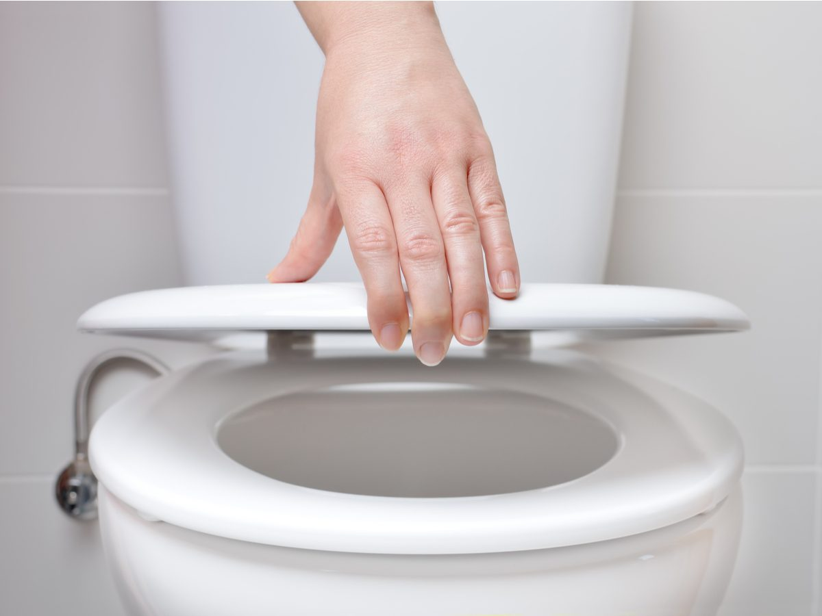 Closing toilet lid