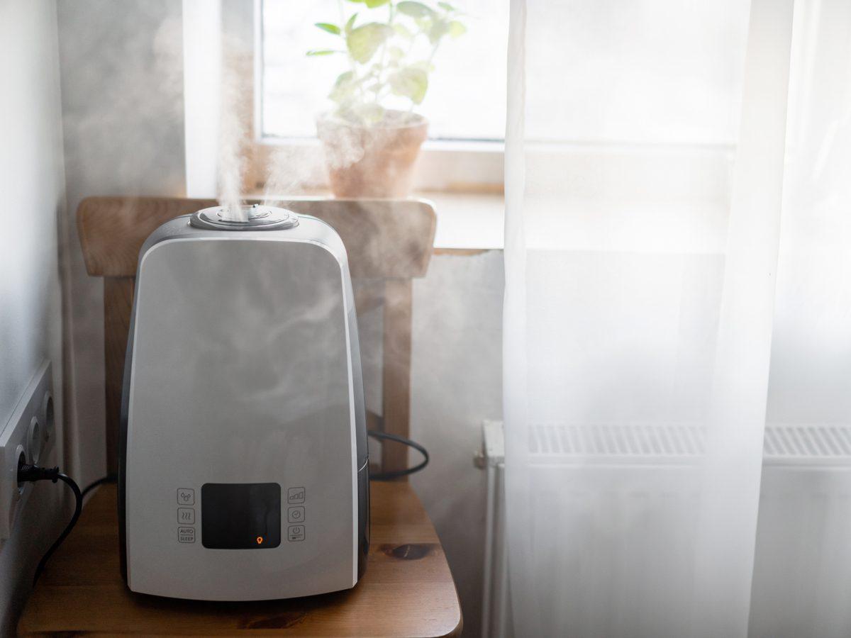 Humidifier in bedroom