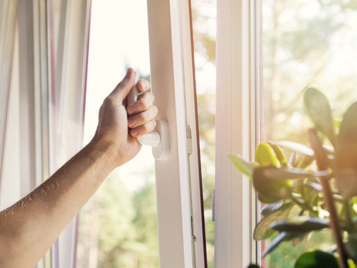 Cracking open a window in home