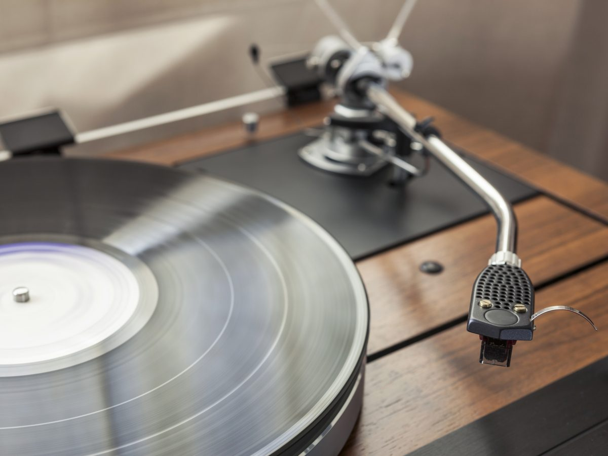 Record player with vinyl