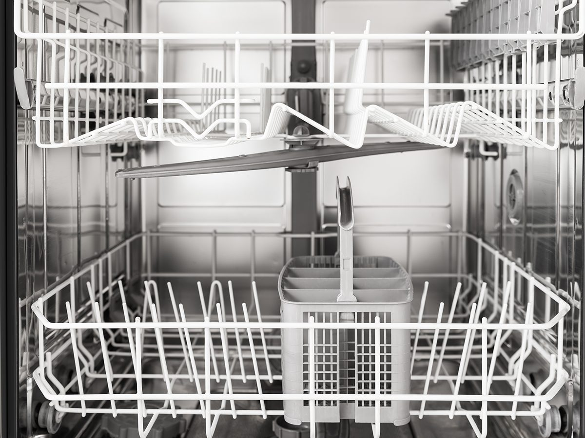 How to clean a dishwasher - dishwasher interior