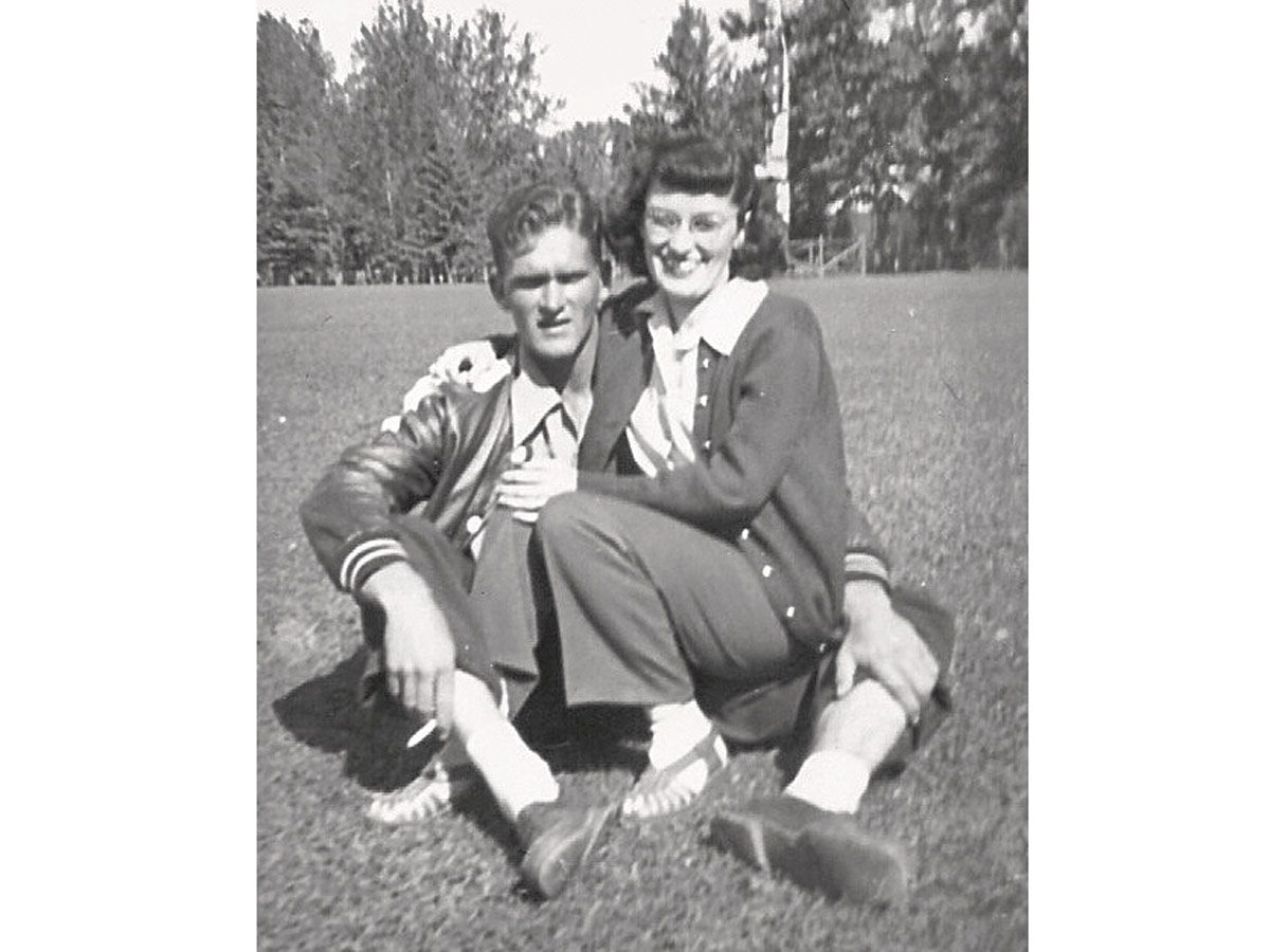Bill and Jo during their courtship