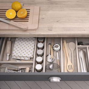 Kitchen Organizing Ideas - Open Kitchen Drawers