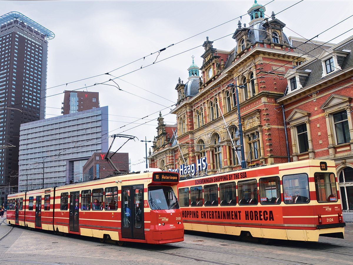 Trams in The Hague, Netherlands