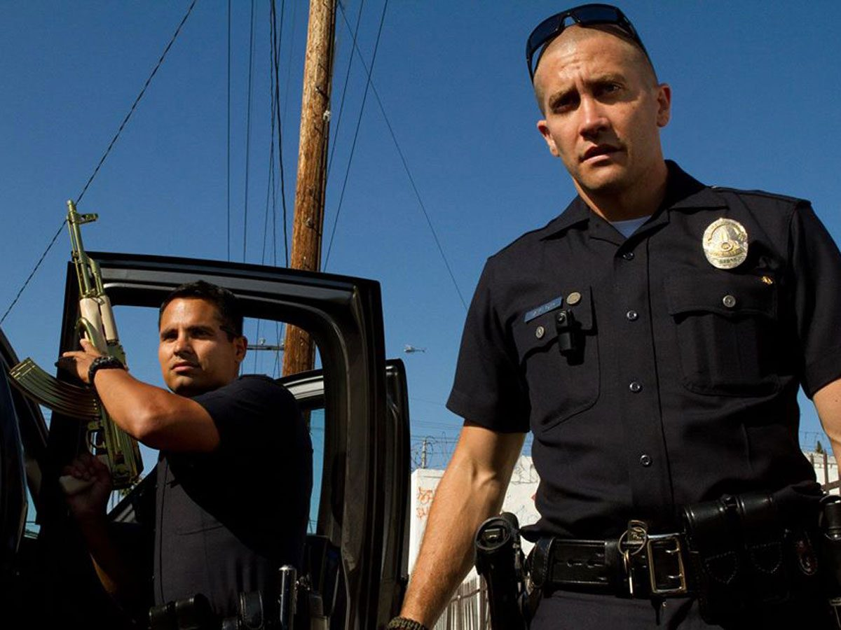 Michael Pena and Jake Gyllenhaal in End of Watch on Netflix Canada