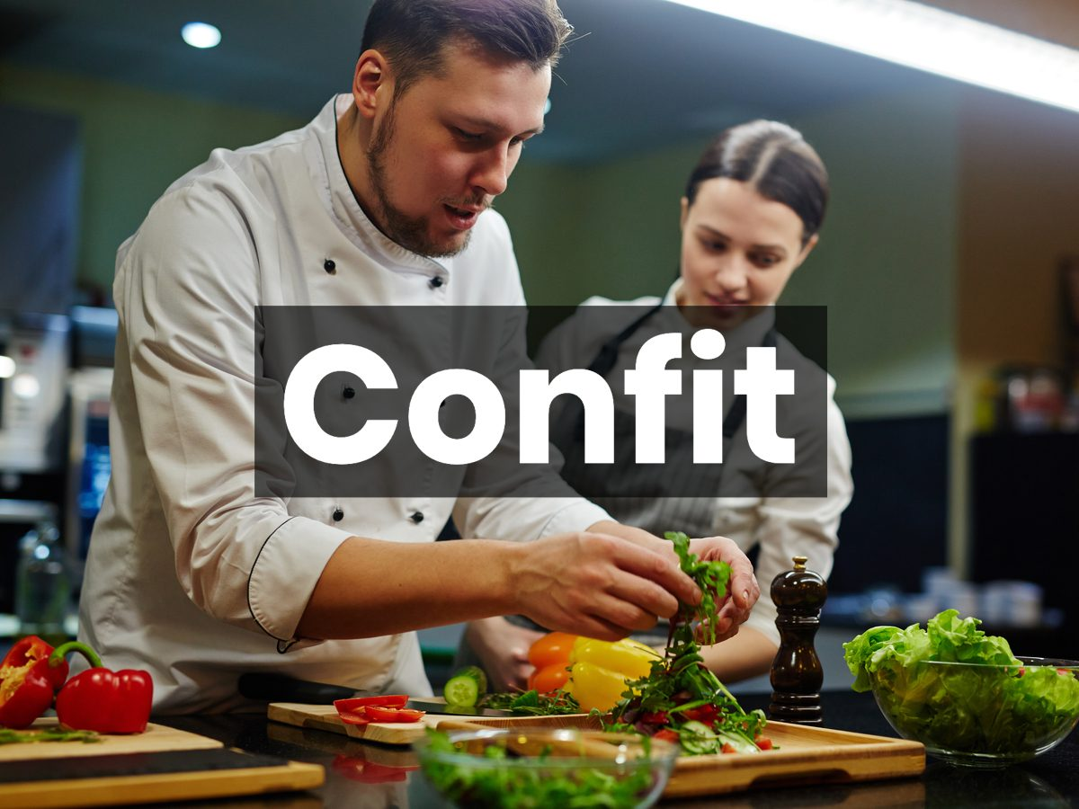Cooking terms - confit