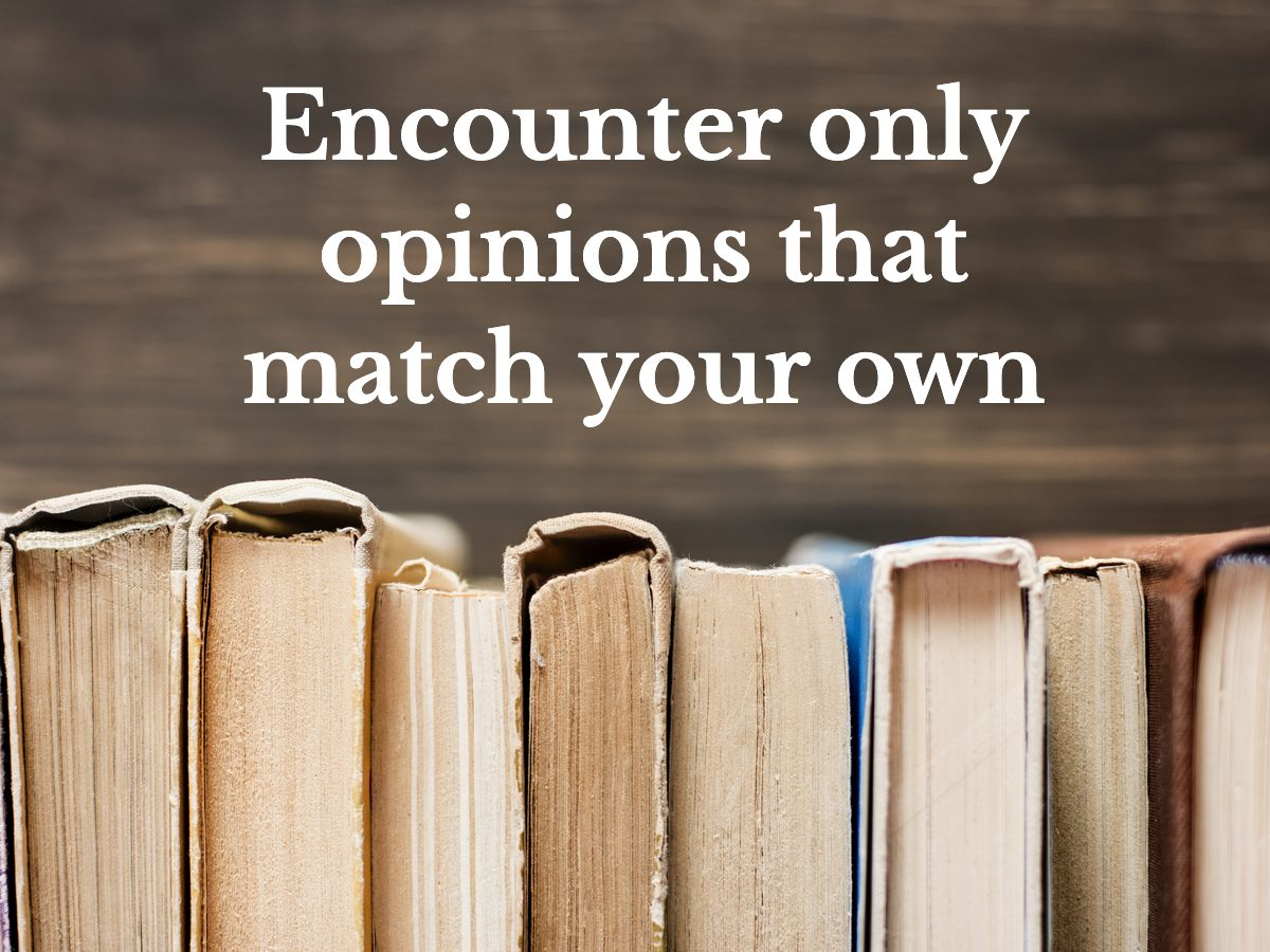 Encounter only opinions that match your own