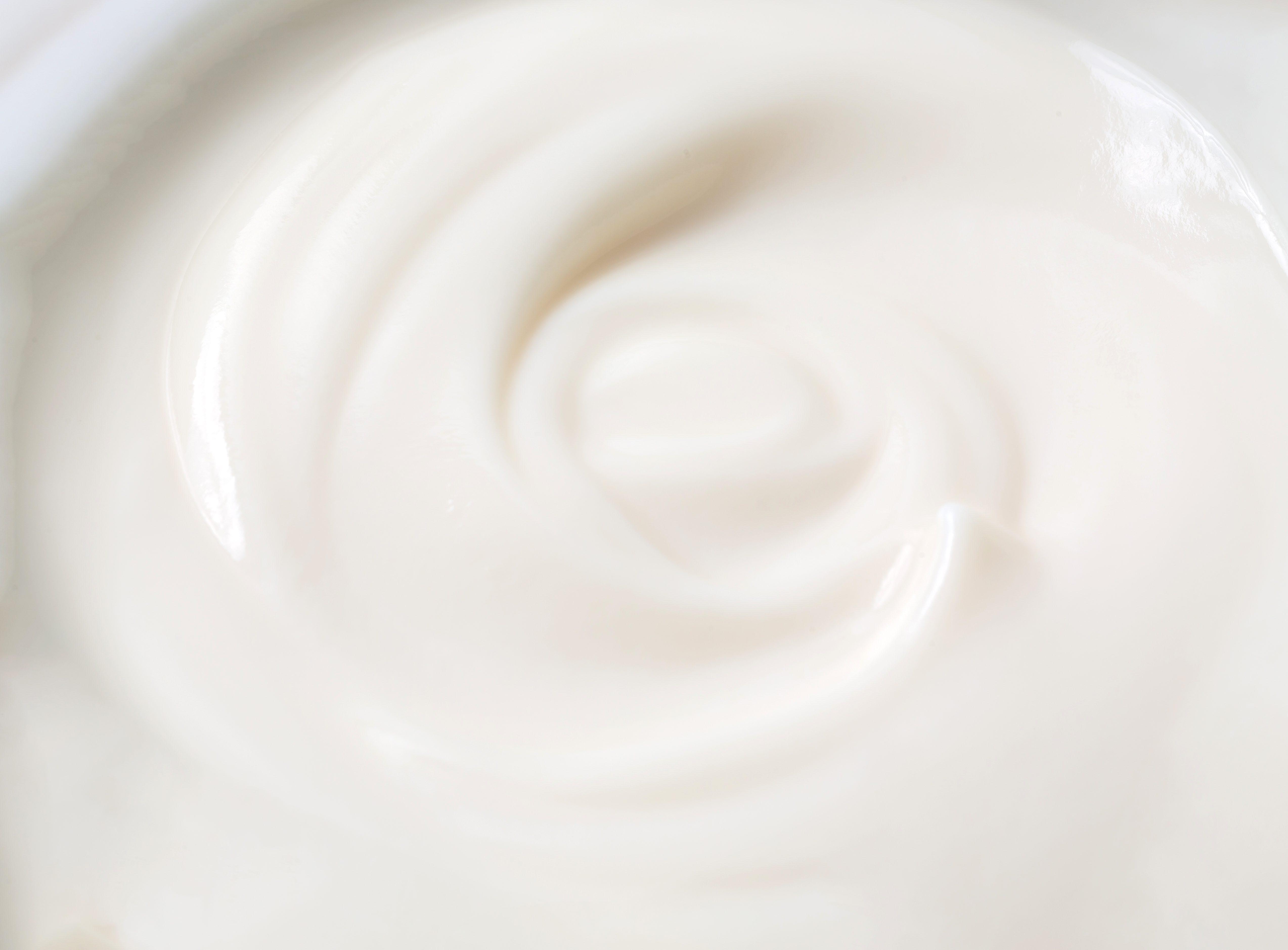 Yogurt. Close up of greek creamy, yogurt texture background.