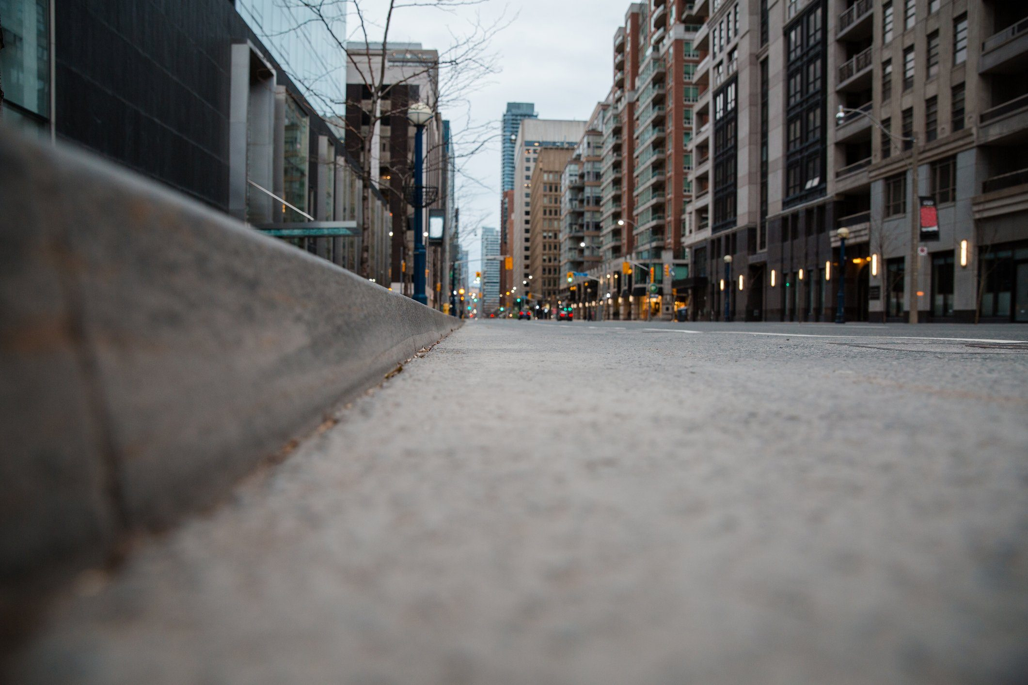 curb low angle view