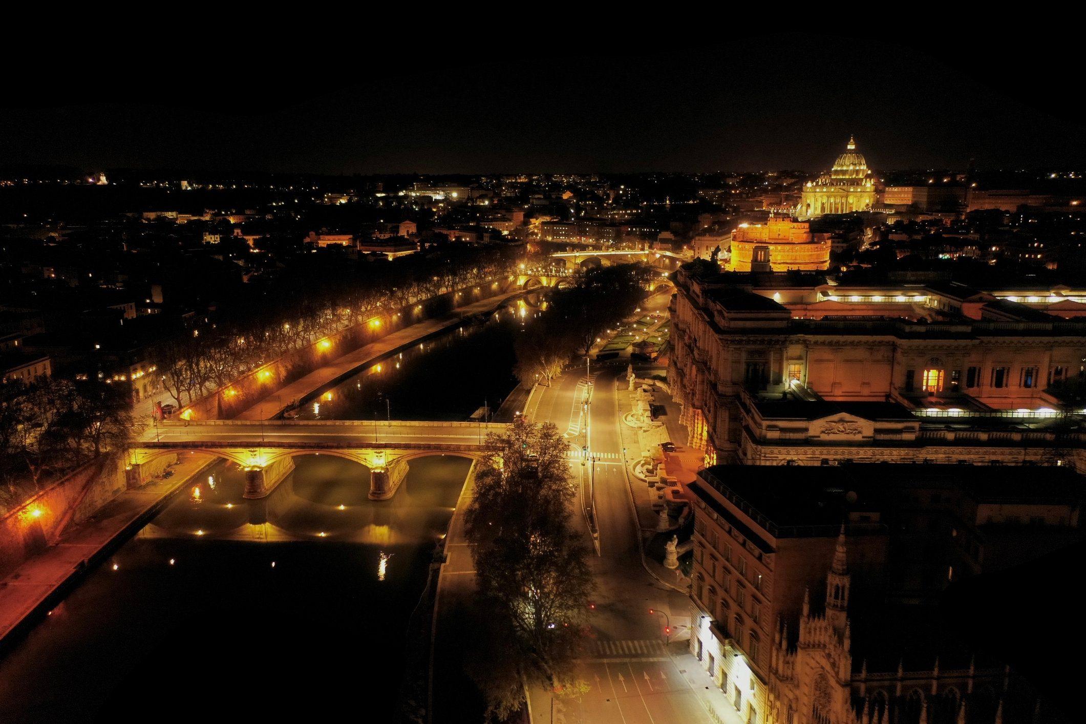 Empty Rome, Italy, COVID-19