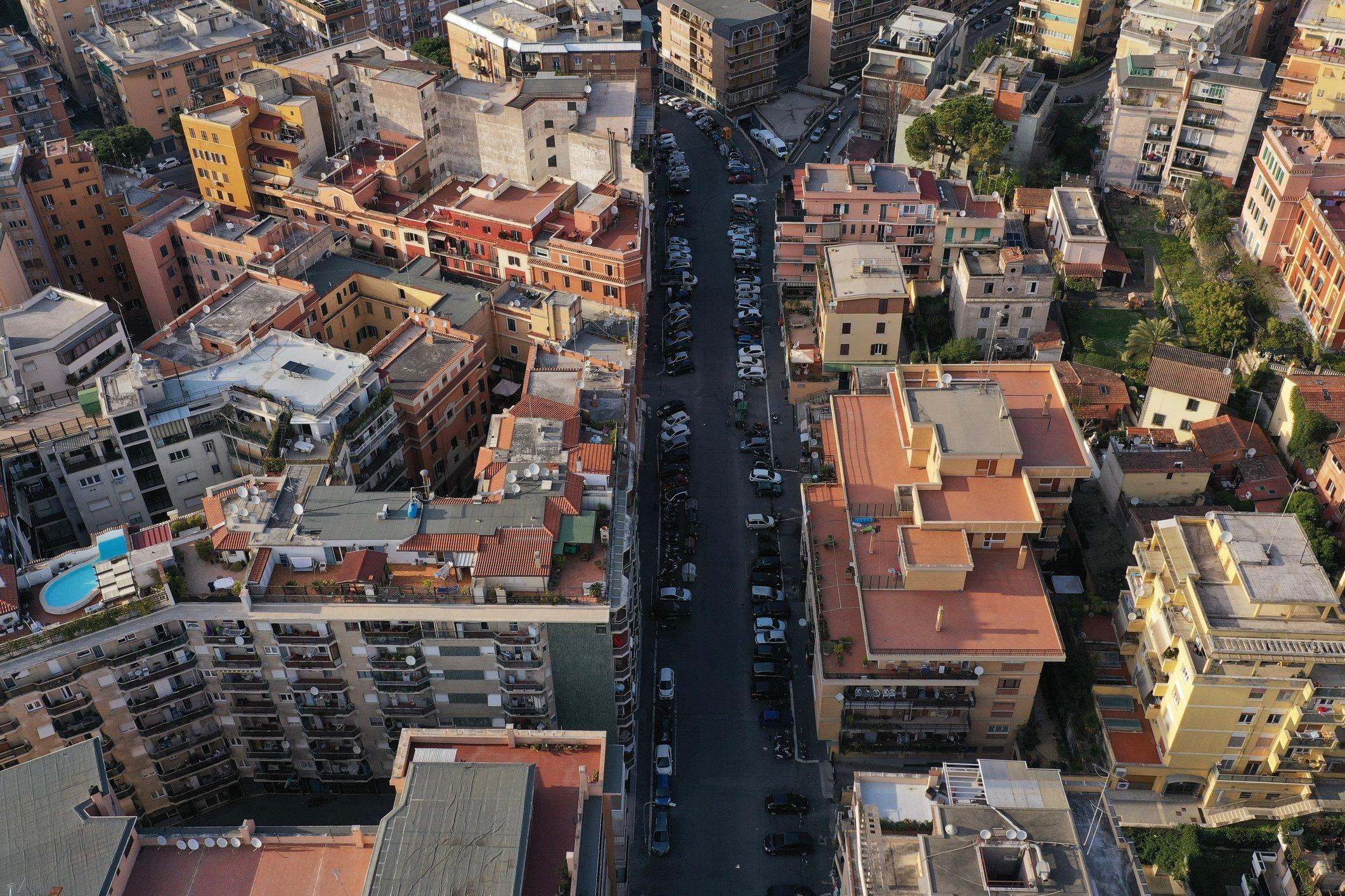 Empty streets, Rome, Palm Sunday, COVID-19