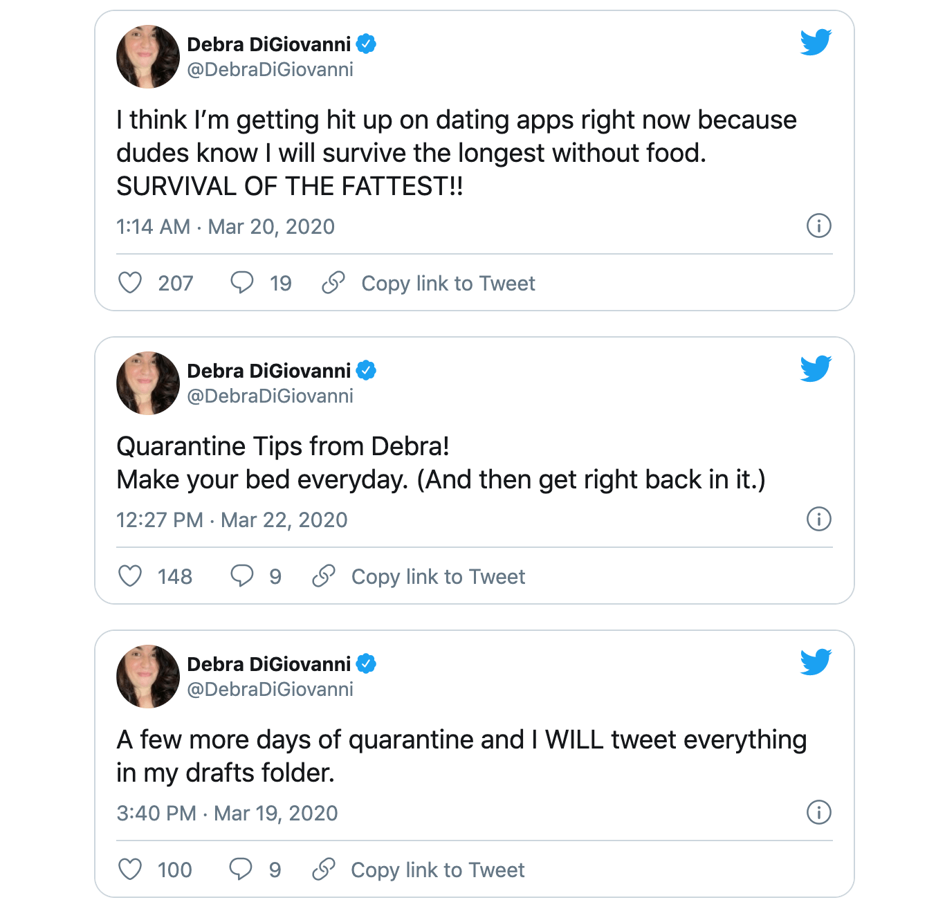 Debra DiGiovanni Twitter