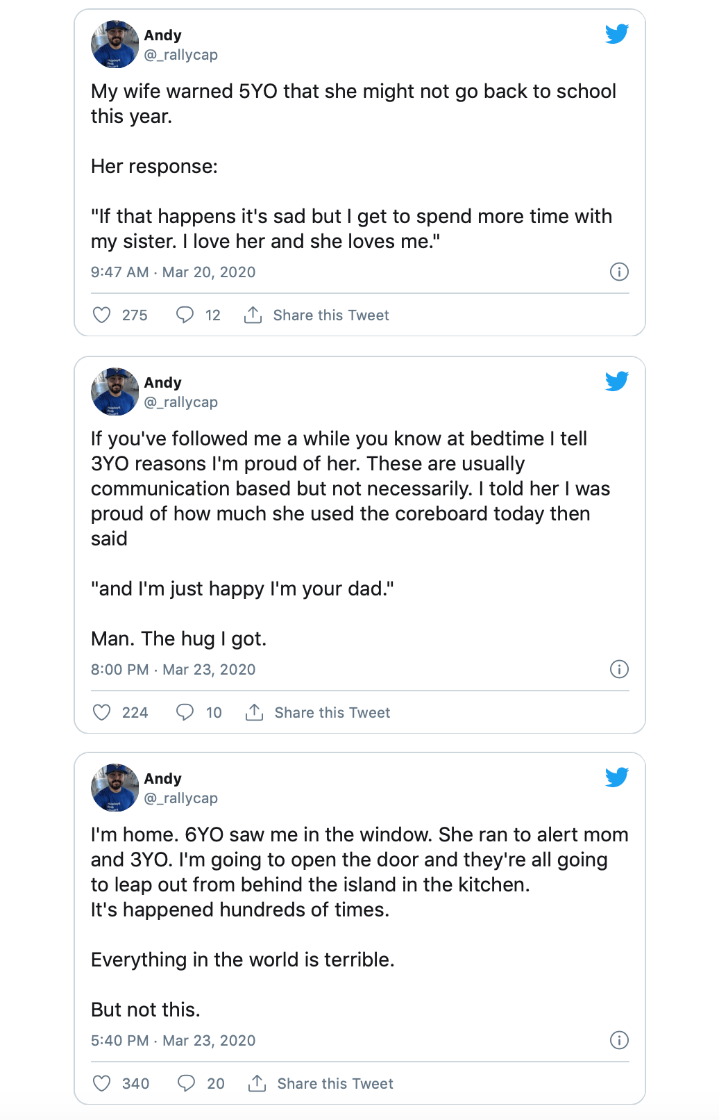 Rallycap Andy Twitter account
