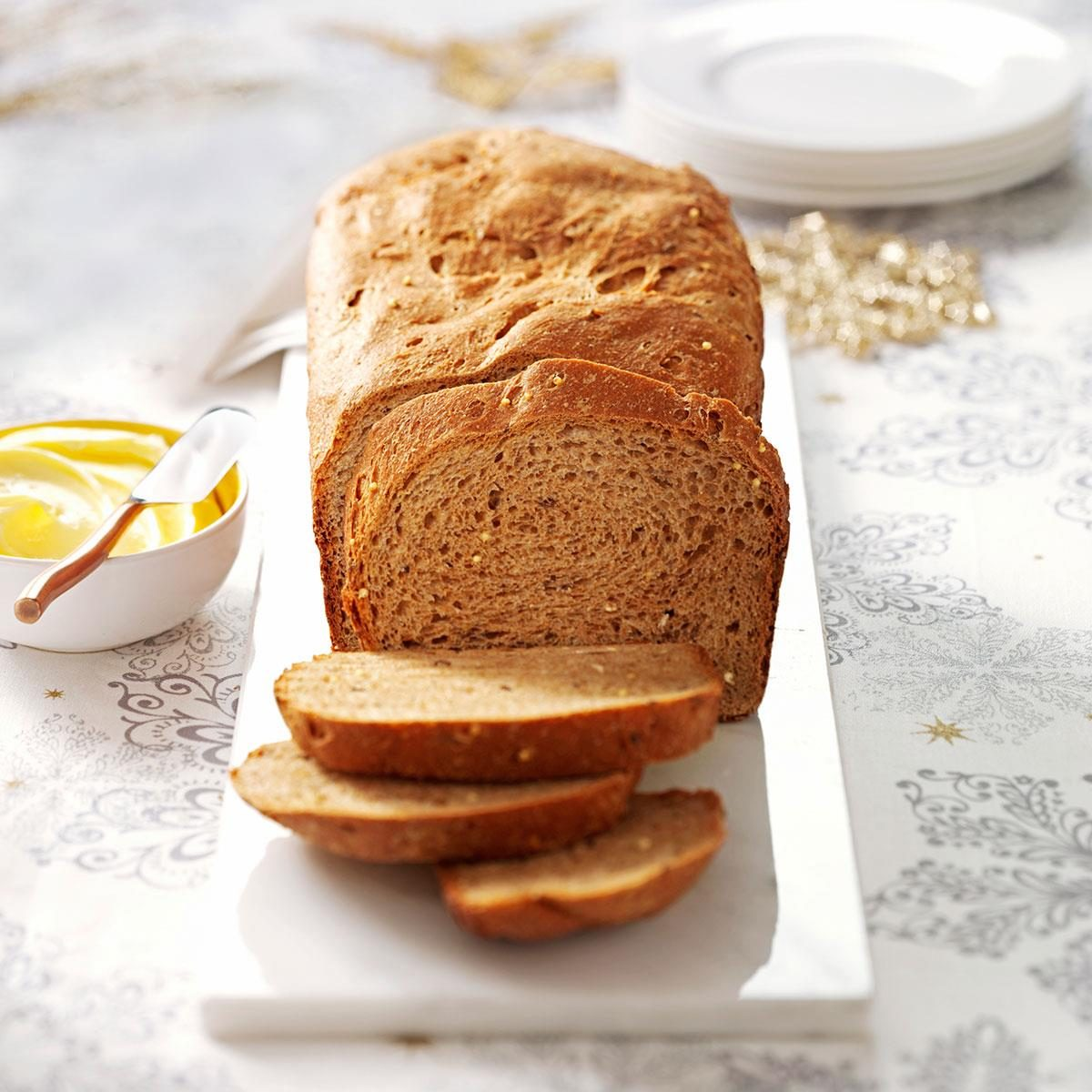 Seeded whole grain loaf