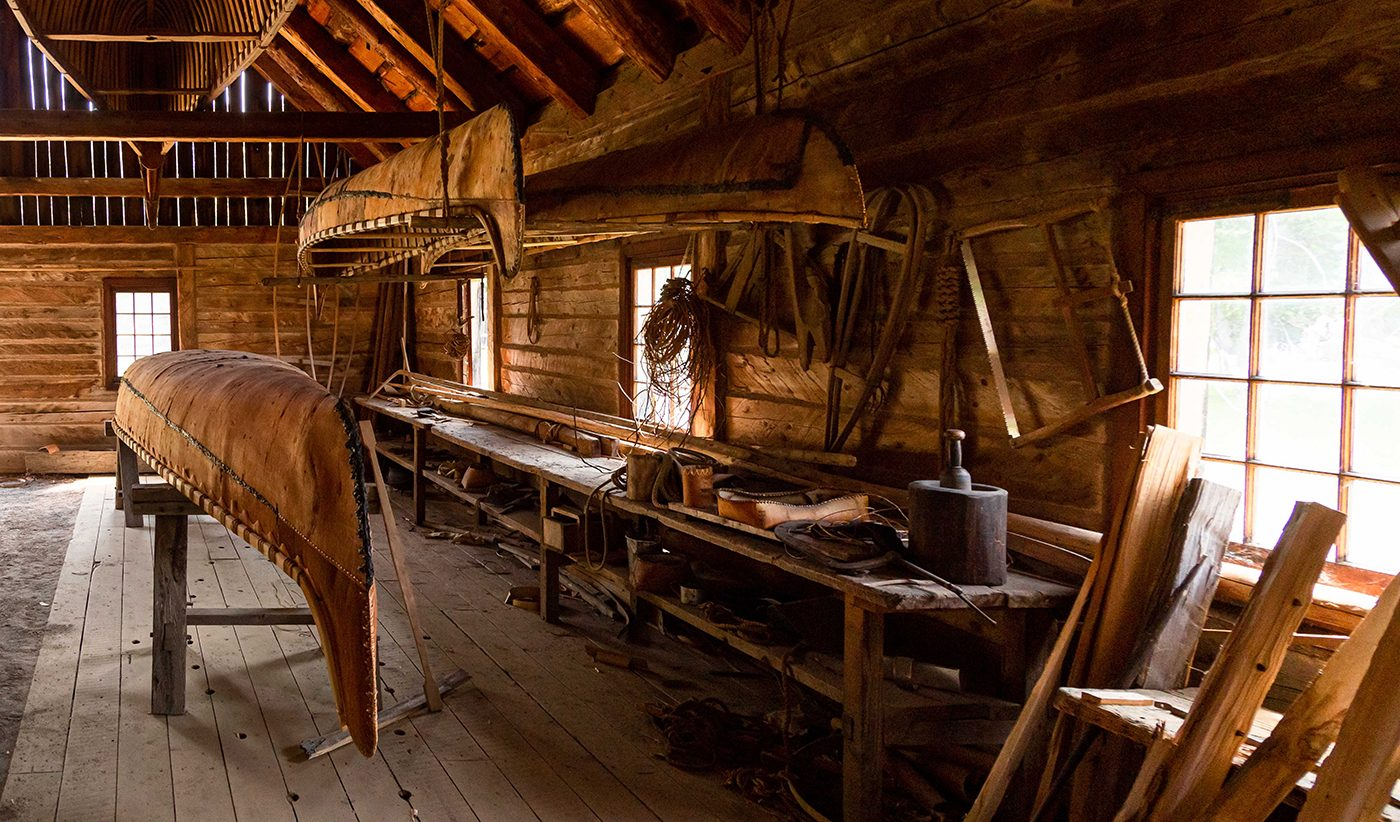 Canadian history - canoes in the workshop