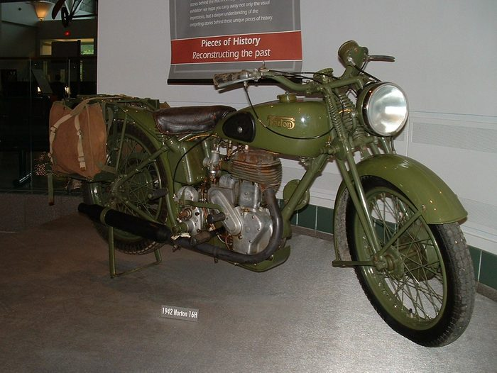 historical canadian photos - motorcycle