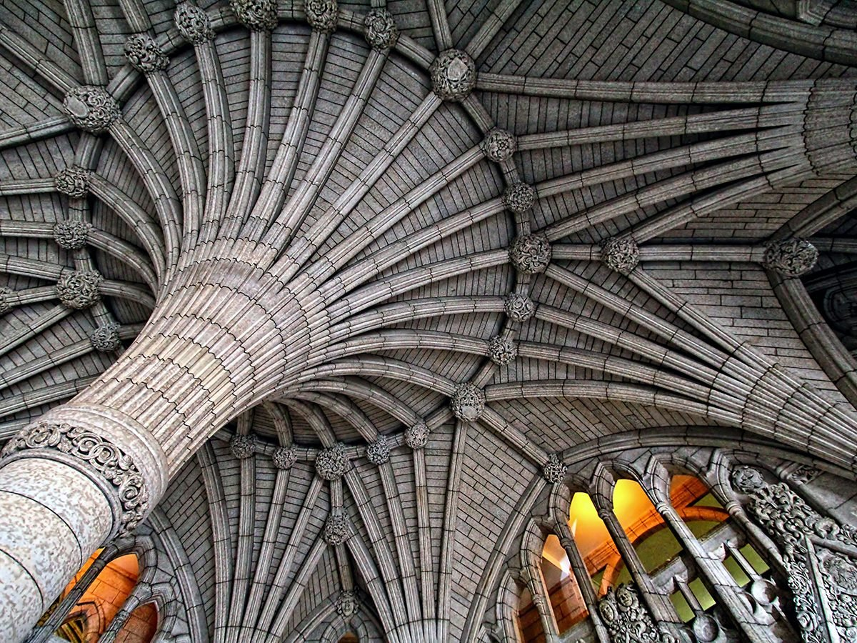 Canadian history - parliament building ceiling