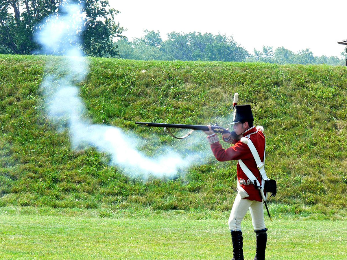 Canadian history - War of 1812 reenactment