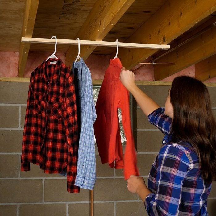 Brilliant laundry hacks - Drying Rack