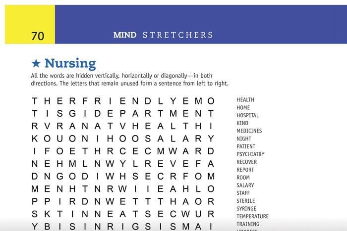 nursing word search preview