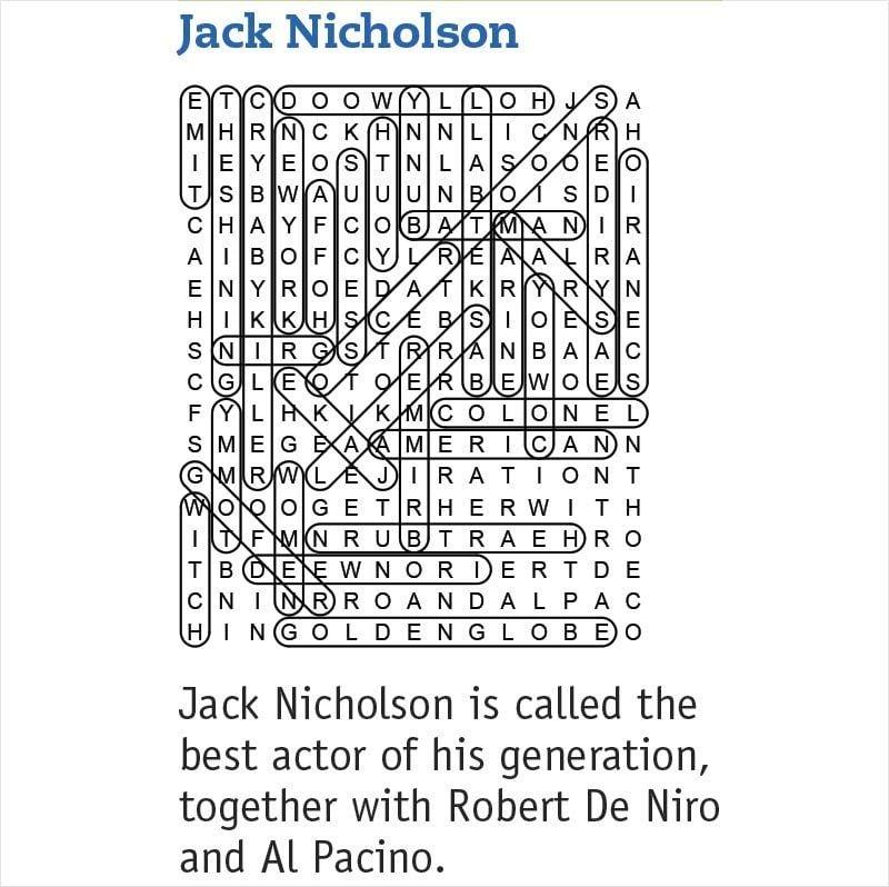 jack nicholson answers