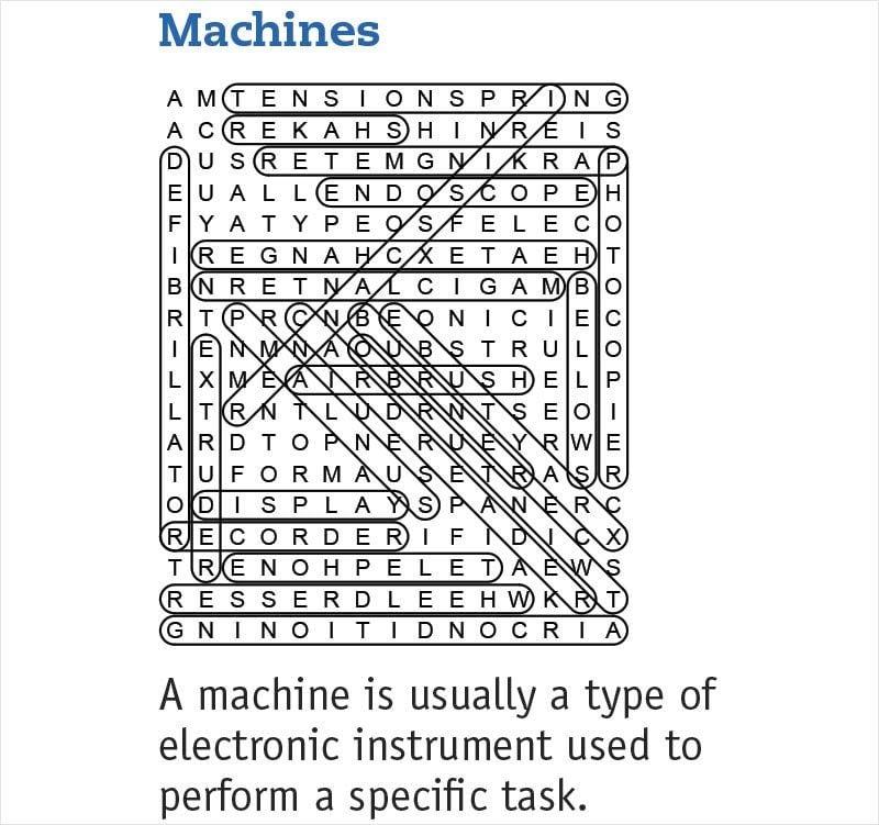 Machines answers