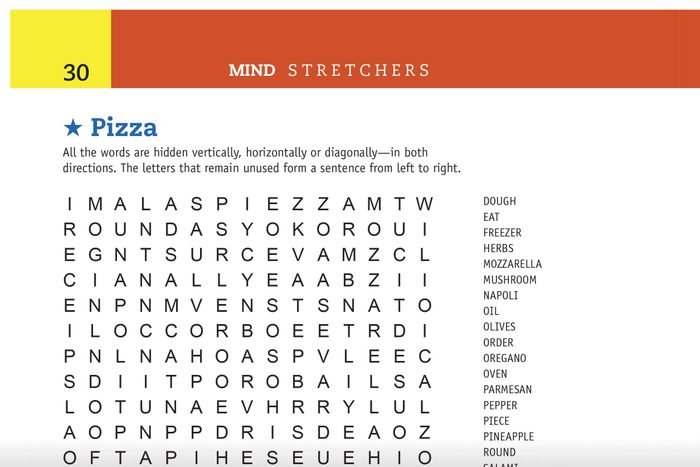 pizza word search preview