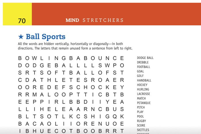 ball sports word search preview