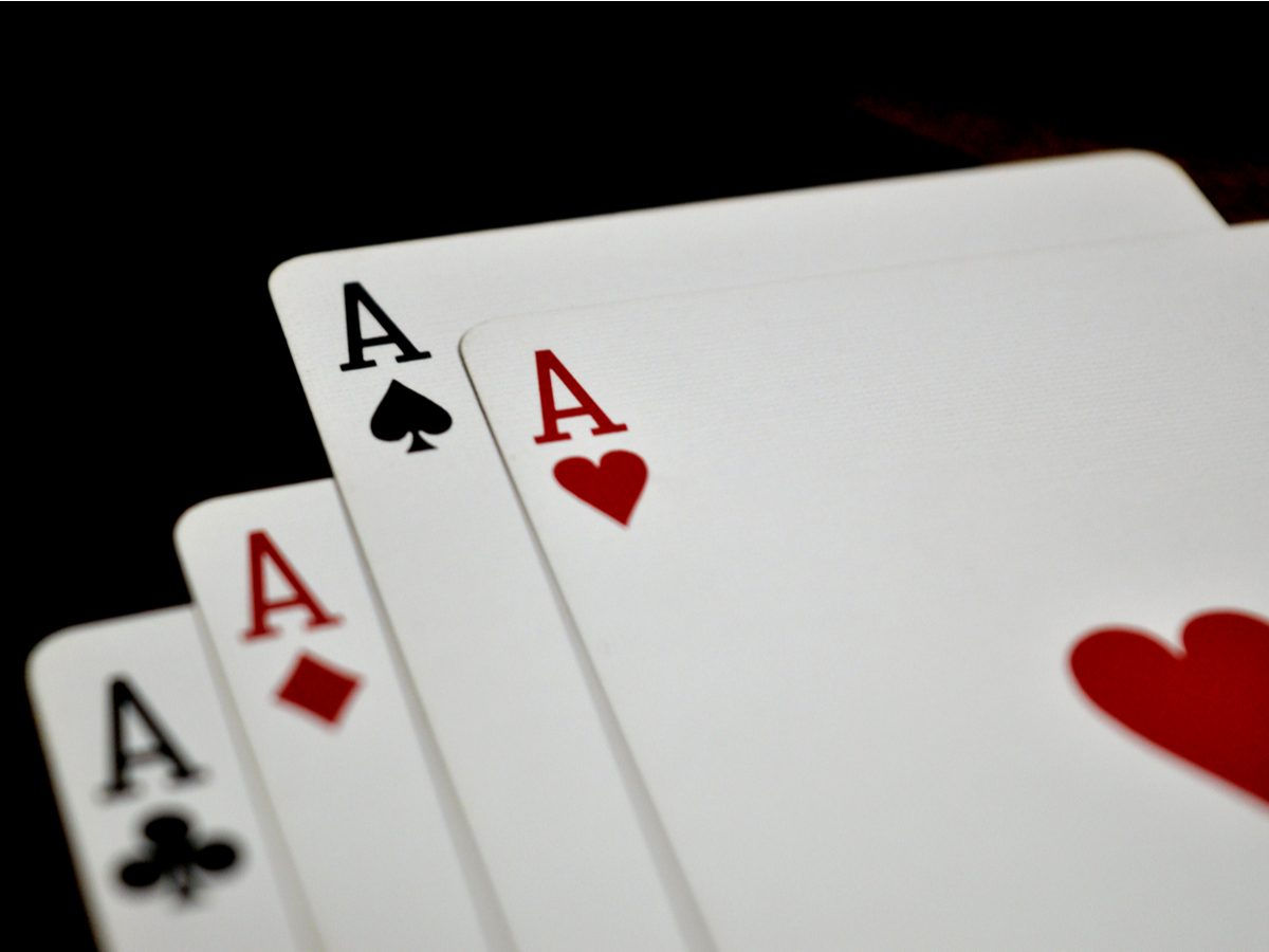 Four cards showing Aces