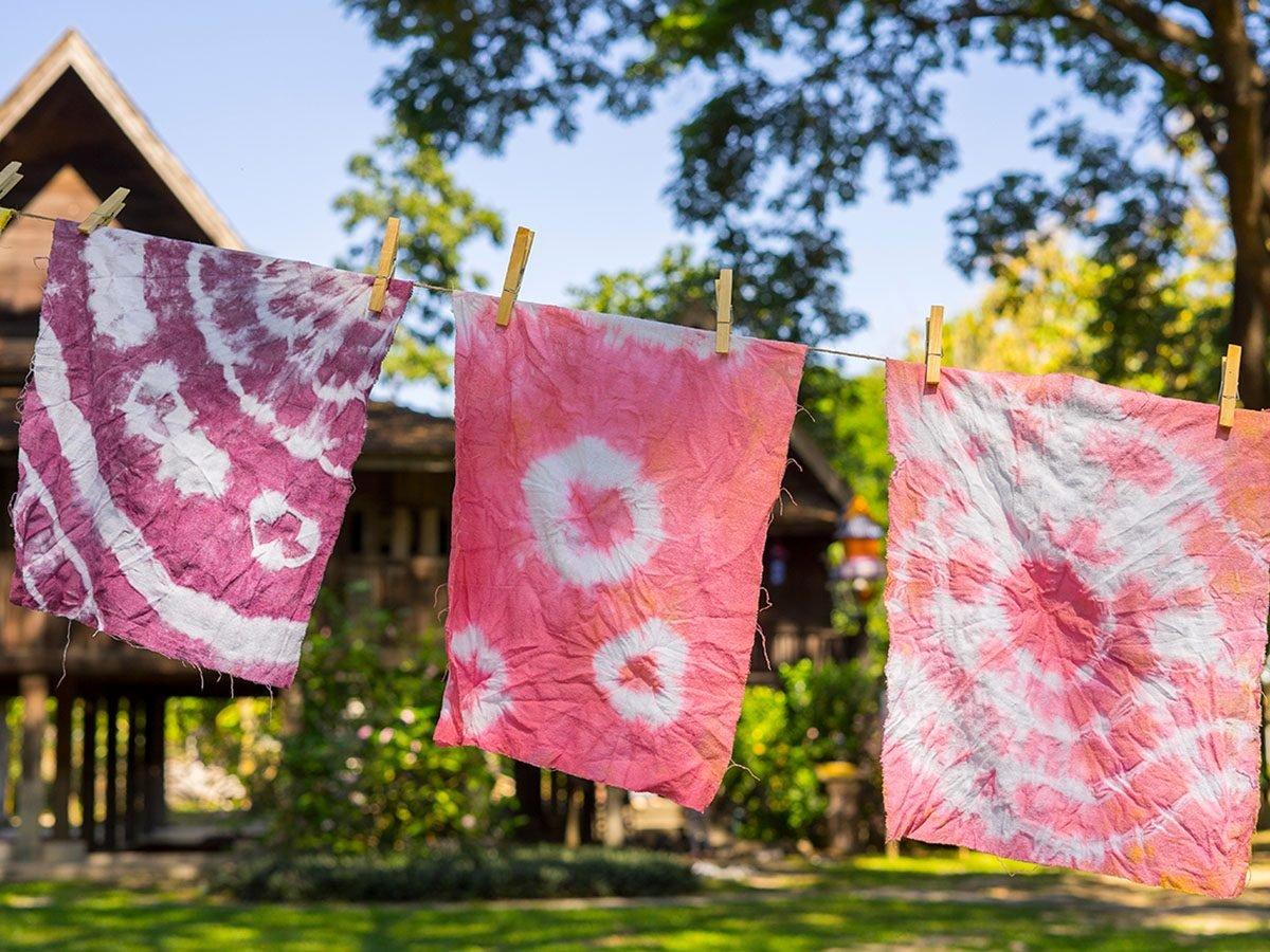 tie dye hangs outside