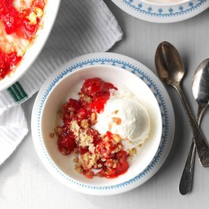 Homemade Cherry Crisp