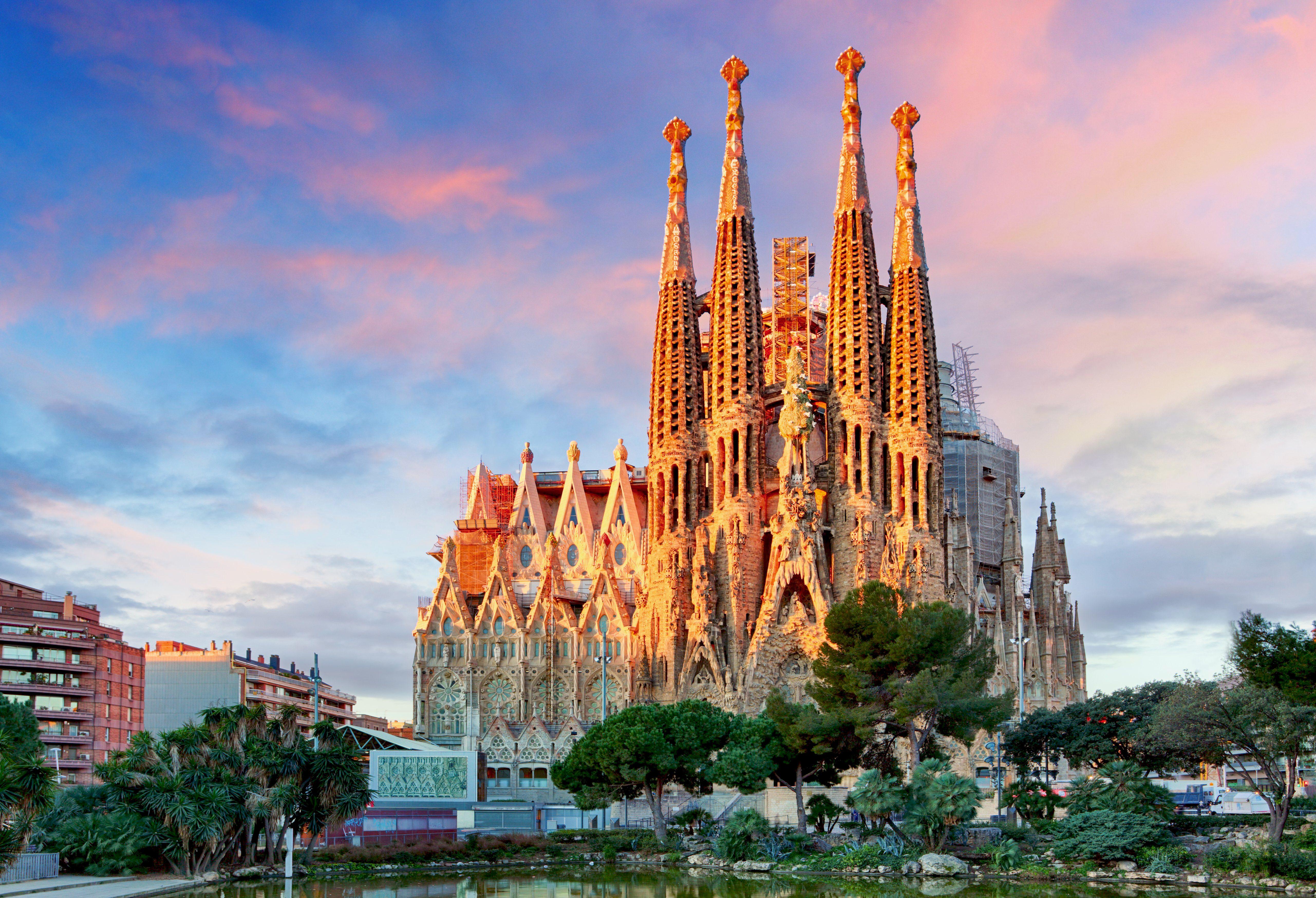 Sagrada Familia basilica in Barcelona.