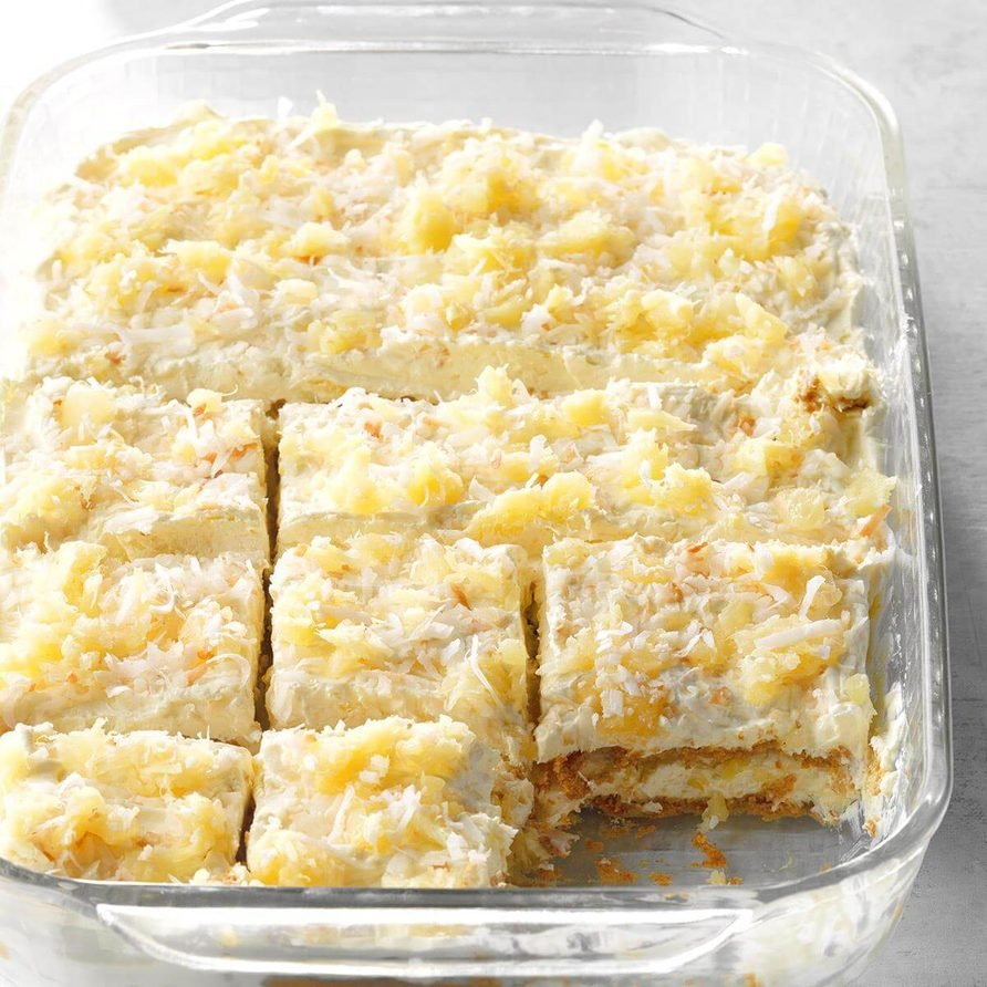 Pina Colada Icebox Cake