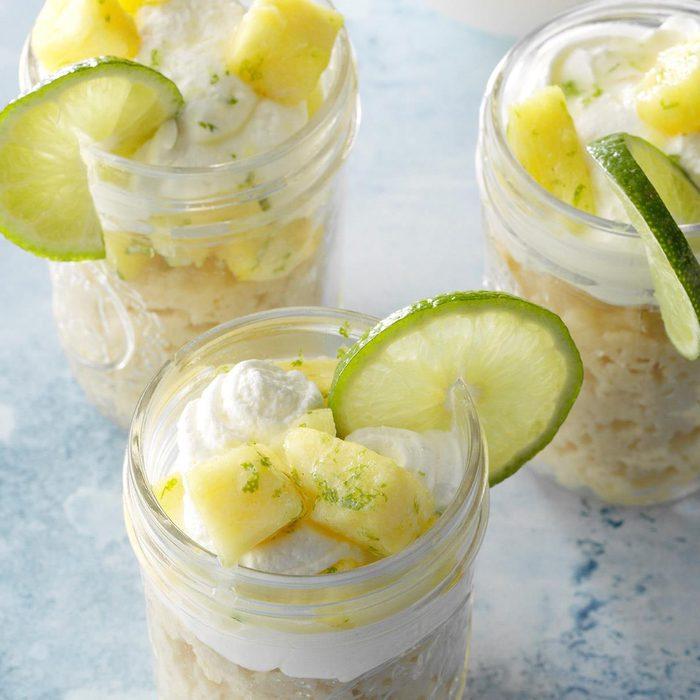 Pineapple RumChata Shortcakes