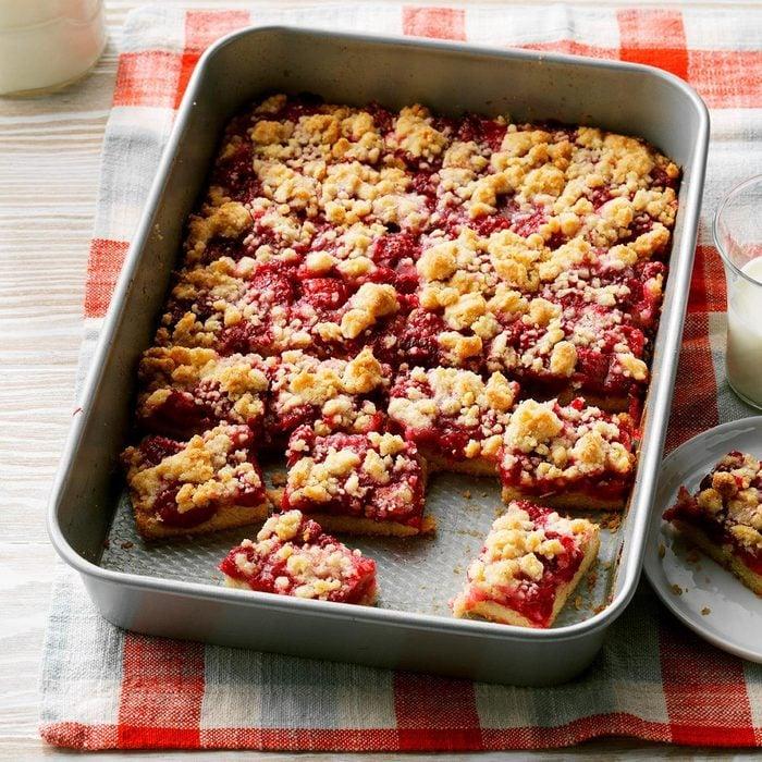 Raspberry Patch Crumb Bars
