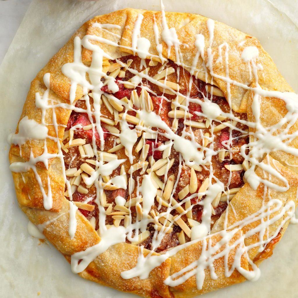 Rustic Orange-Rhubarb Tart